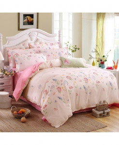 Light Pink Life Classic Pastoral Stylish Bedsheet