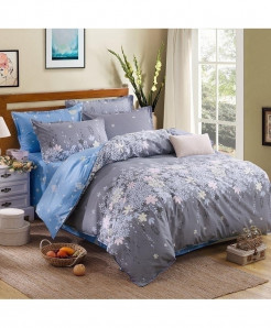 Gray Blue Classic Pastoral Stylish Bedsheet