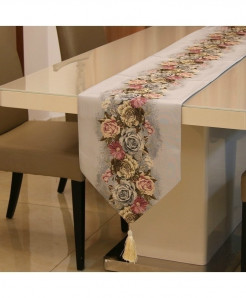 Gray Proud Rose American Table Runner 32x210cm