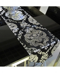 Black Handcraft Europe Style Table Runner 33x240cm