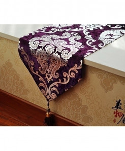 Purple Handcraft Europe Style Table Runner 33x240cm