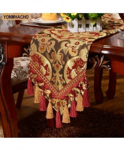 Yonhwacho Red Luxury Embroidered Table Runner 30x210cm