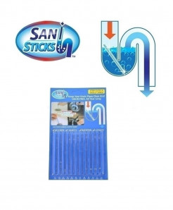 24 PC Sani Sticks Drain Cleaner Sewer Cleaning Rod