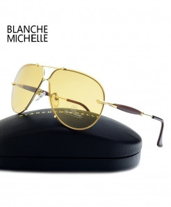 Blanche Michelle Rimless UV Polarized Sunglasses