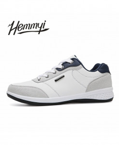 Hemmyi White Stylish Lace-up Casual Shoes