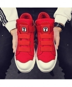 SHANGCATS Red Rome Mesh Casual Sneakers