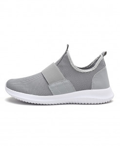 COOLVFATBO Gray Stylish Slip On Casual Shoes