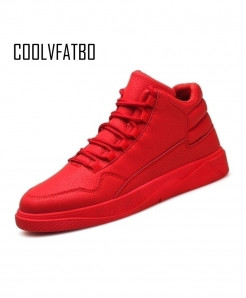COOLVFATBO Red Warm Plush Vulcanize Shoes