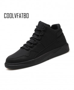COOLVFATBO  Black Warm Plush Vulcanize Shoes