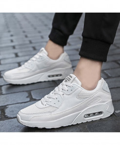 White Lace-up Breathable Drop Casual Shoes