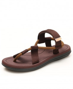 Redhollow Brown Breathable Clip Toe Dual-purpose Sandal