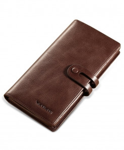 ManBang Brown Stylish Design Vintage Long Wallet