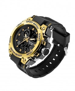 Sanda Gold Sports LED Digital Waterproof Military Watch