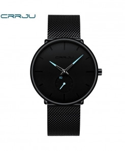 Crrju Black Classic Casual Quartz Watch