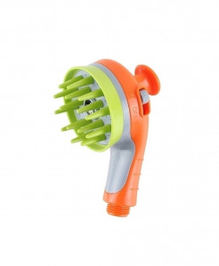 Pet Shower Orange Head Bath Massage Brush