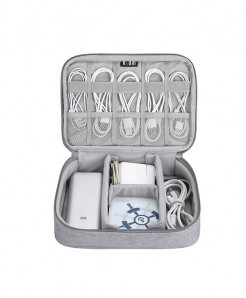 BUBM Gray Portable Electronic Accessories Travel Case