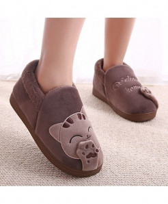 Lotus Jolly Brown Top Non-slip Soft Slippers