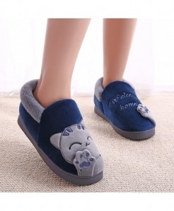 Lotus Jolly Blue Top Non-slip Soft Slippers