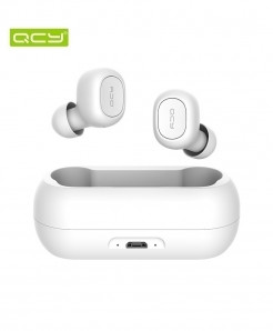 QCY White TWS 5.0 Bluetooth 3D Stereo Wireless Earphone