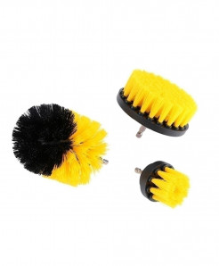 Yellow Power Scrubber Drill Brush Cleaner 3 pc (Drill Not Included)