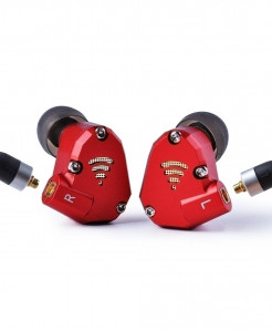 Wooeasy Red Hybrid Metal Running Sport Earphone