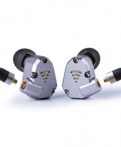 Wooeasy Gray Hybrid Metal Running Sport Earphone