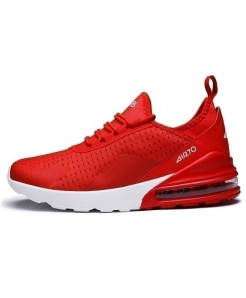 KEEP RUNNING Red Comfortable Sports Running Shoes