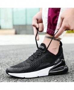 KEEP RUNNING Black White Comfortable Sports Running Shoes