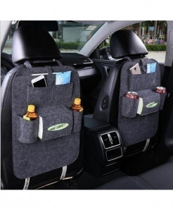 KEOGHS Dark Gray 1pc Backseat Multi-Pockets Storage