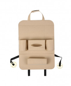 KKMOON Beige Multi-Pocket Backseat Organizer