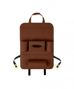 KKMOON Brown Multi-Pocket Backseat Organizer