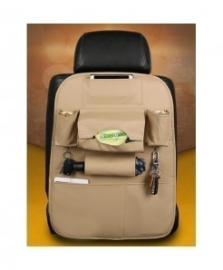 DEFOE Beige Multi-Functional Seat Storage Bag