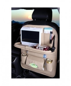 DEFOE Beige Dining Rack Car Seat Storage Bag