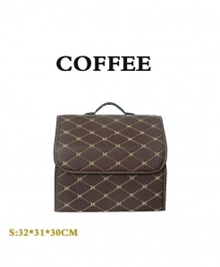 Coffee Car trunk Heavy PU leather Stowing Tidying
