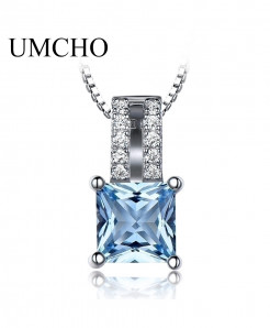 UMCHO Pure 925 Sterling Topaz Pendant