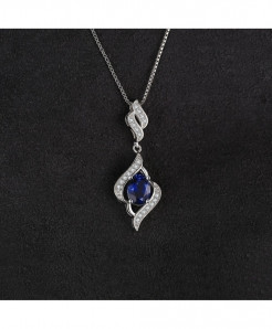 JewelryPalace Silver Sapphire Pendant