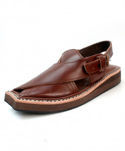 Choco Brown Stitched Stylish Peshawari Sandal AK-2829