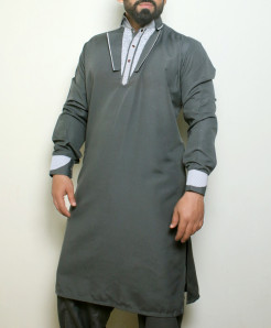 Gray Stylish Design Kurta Shalwar ARK-997