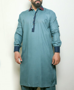 Slate Blue Stylish Design Kurta Shalwar ARK-998