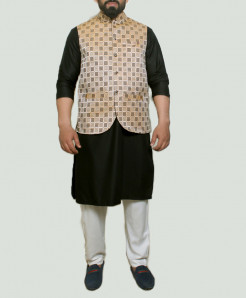 Checkered Banarsi Design Stylish Suit ARK-1010 (3pc)
