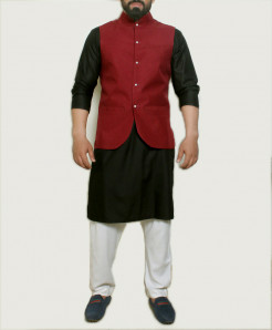 Plain Banarsi Design Stylish Suit ARK-1011 (3pc)