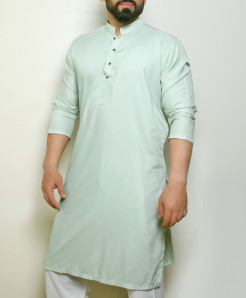 Plain Peach Stylish Design Kurta ARK-1013