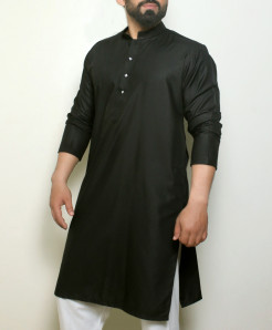 Plain Olive Green Stylish Design Kurta ARK-1014