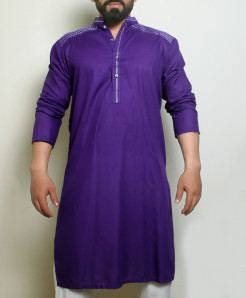 Dark Blue Stylish Design Kurta ARK-1024