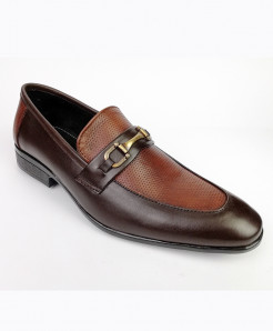 Mustard And Brown Leather Shoes LC-353
