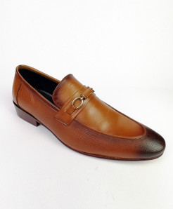 Mustard Brown  All Leather Shoes LC-349