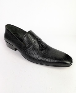 Black Dotted All Leather Shoes LC-357
