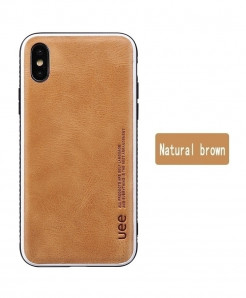 LANGSIDI Natural Brown Leather Shock Resistance Protective Case