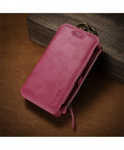 FLOVEME Pink PU Leather Retro Wallet Case