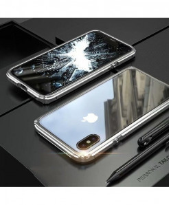 BOBYT Silver Metal Bumper For iPhone Case